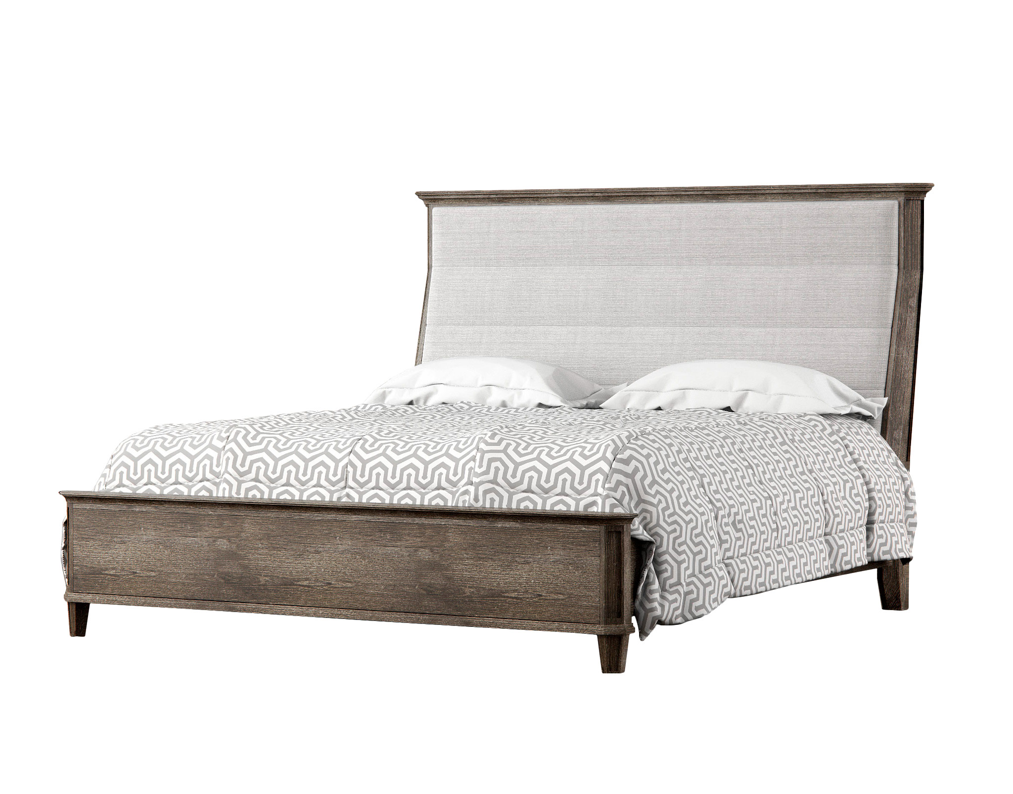 - Alvius King Size Sleigh Bed Rendernode