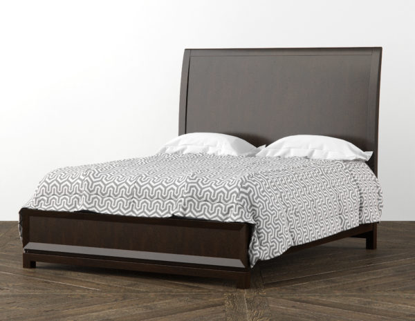 Caudex Queen Bed 3D Model RenderNode