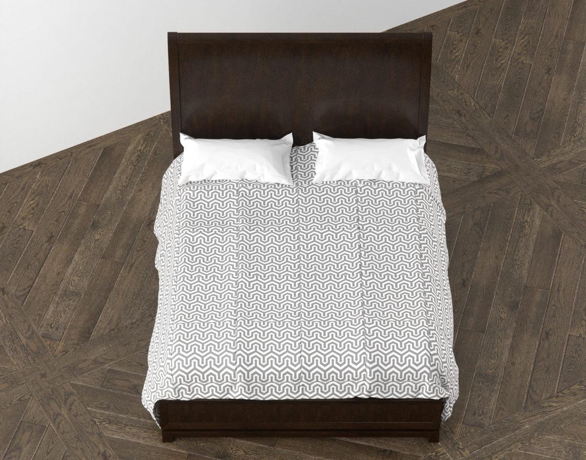 Caudex Queen Bed 3D model Top View RenderNode