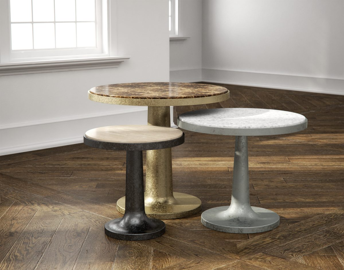 Cupa Accent Tables 3D Models Collection RenderNode