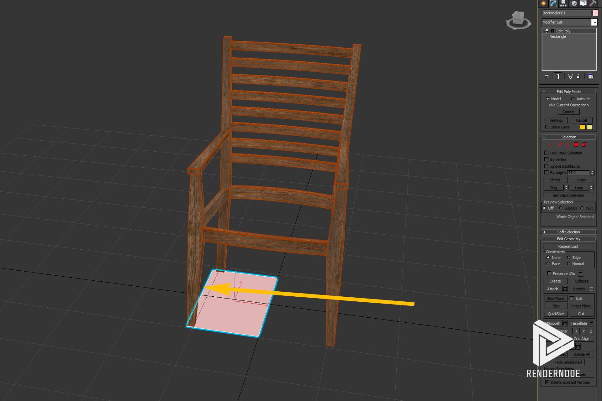 Seat Cushion Creation Step 2 Edit Poly