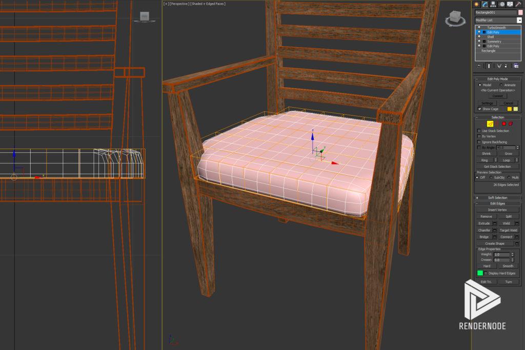 Seat Cushion Smoothing Step 6