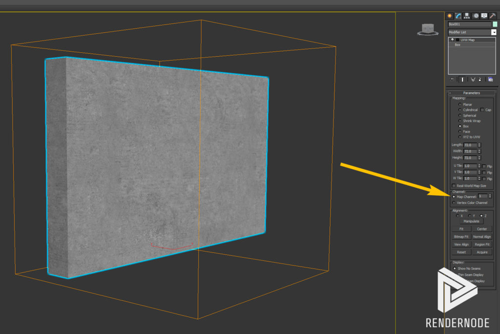 UV Mapping Channels Step 1
