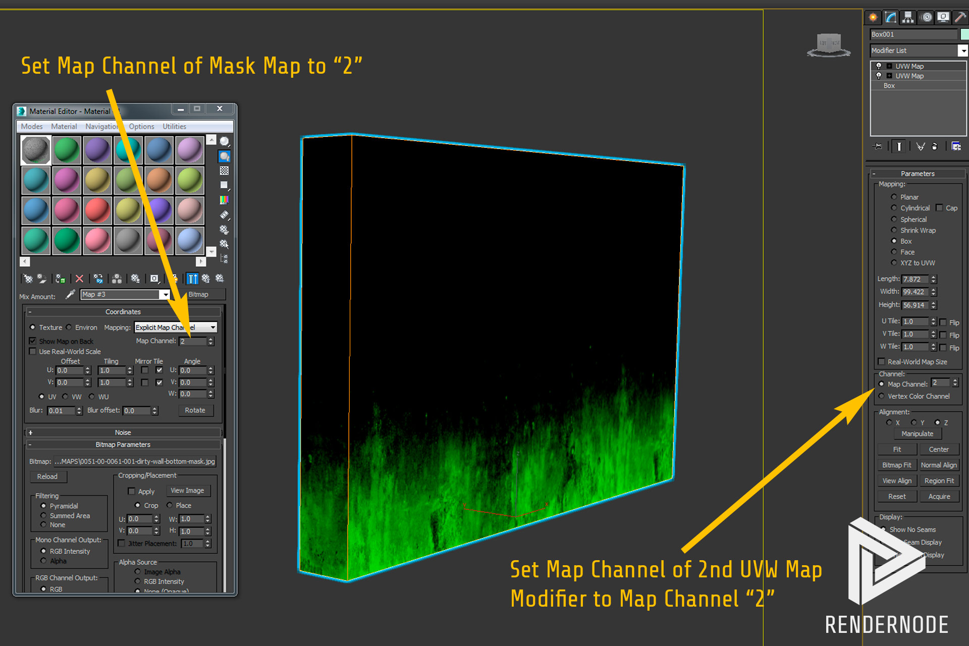 UV Mapping Channels Step 2