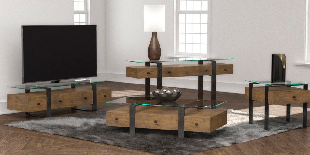 Occasional Table Collection lifestyle 3D rendering