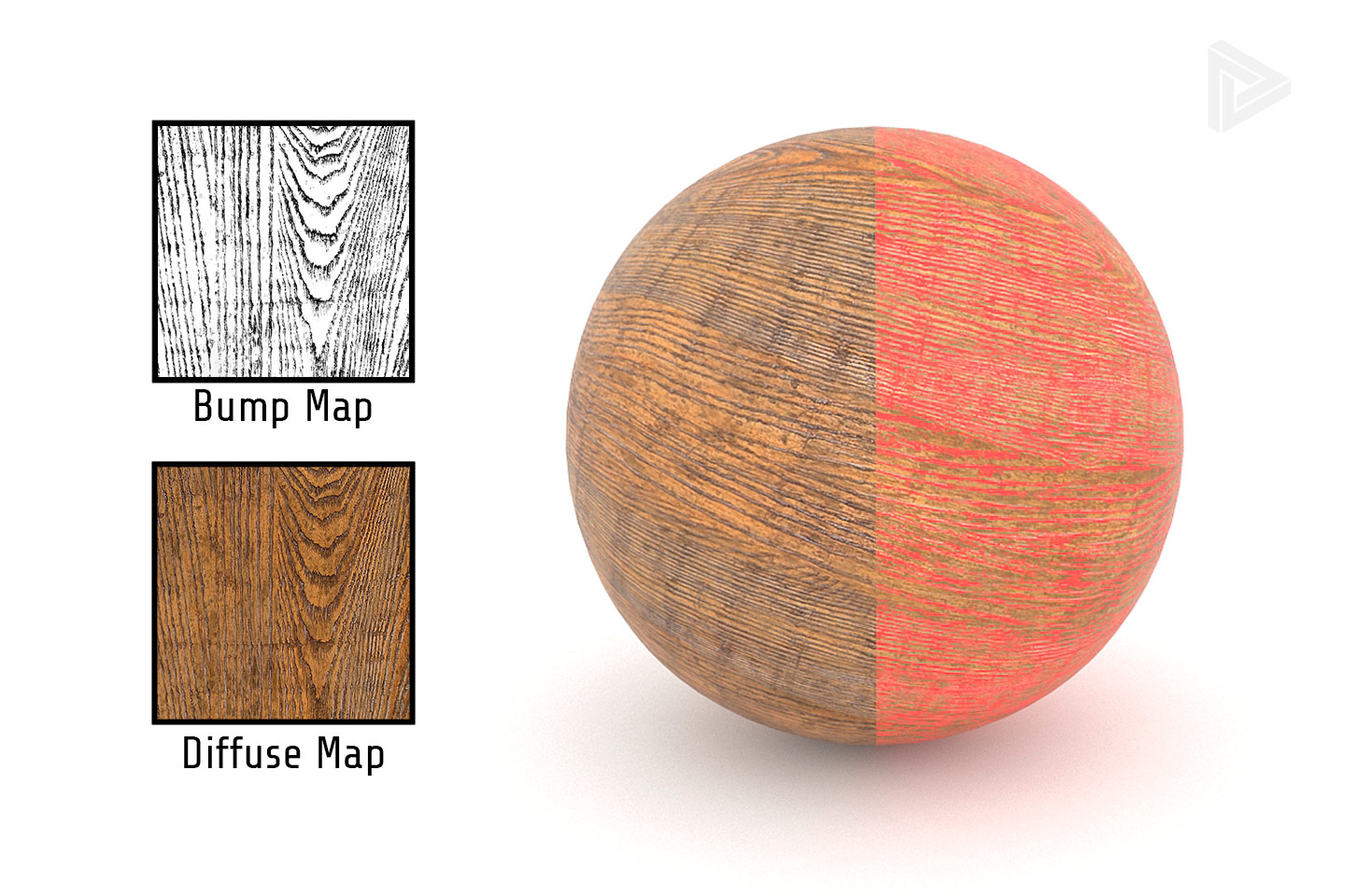 Bump map alignment overlay diffuse map rendernode