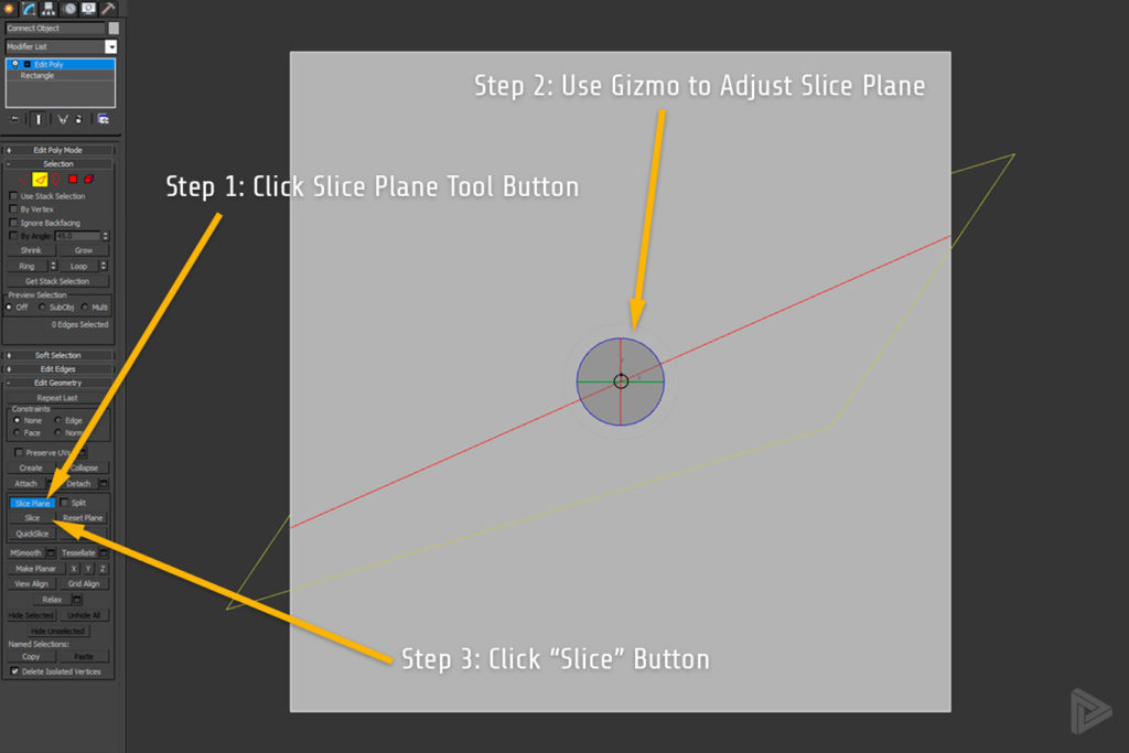 Slice Plane Add Vertex 3DS Max rendernode