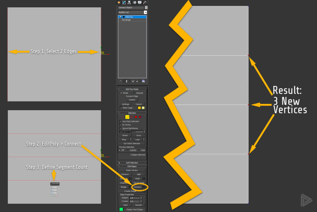 how-to-add-vertix-in-3ds-max-method-one-connect-rendernode