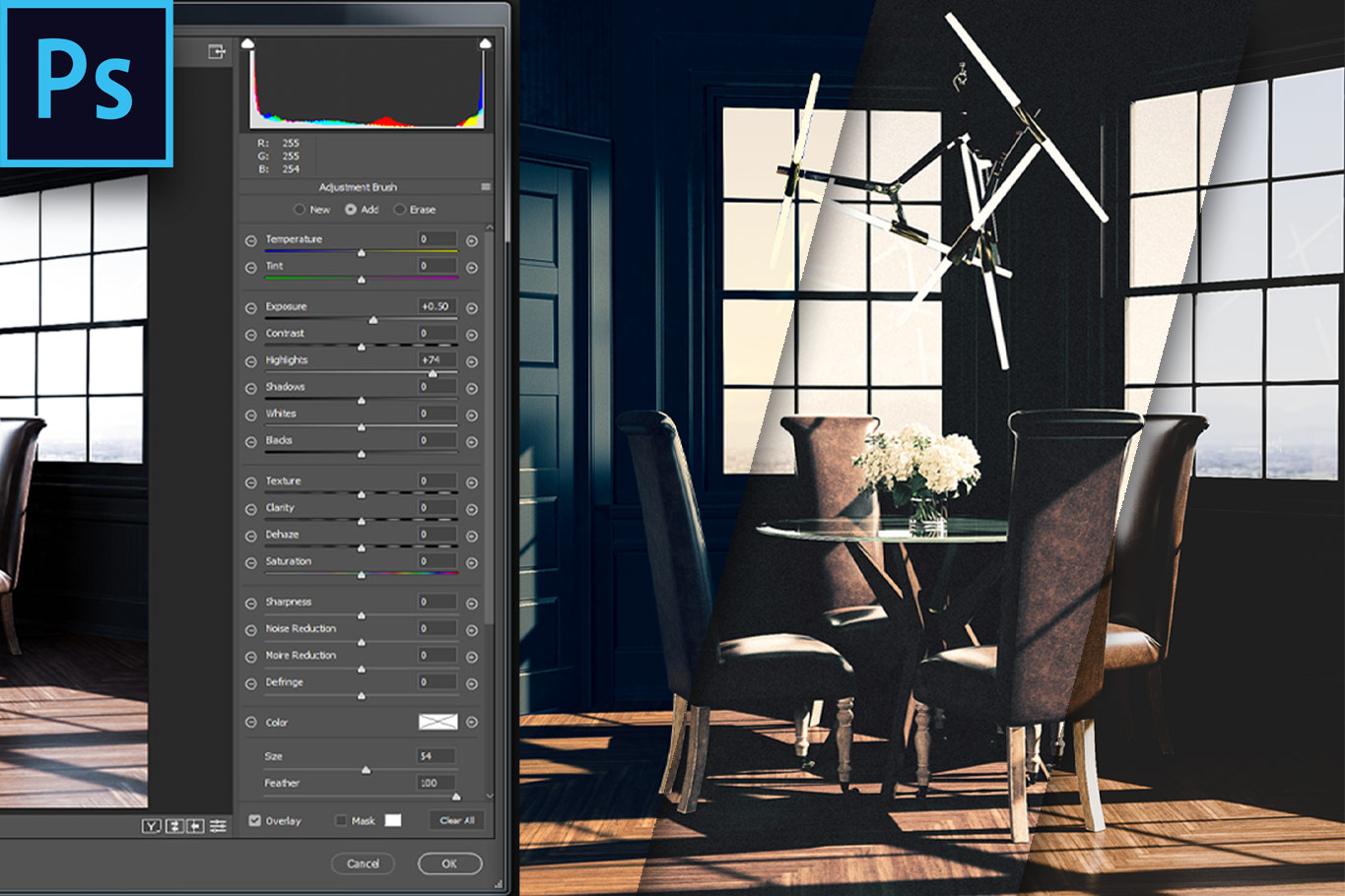 Using Photoshop's Camera Raw to Edit 32 Bit HDR Images