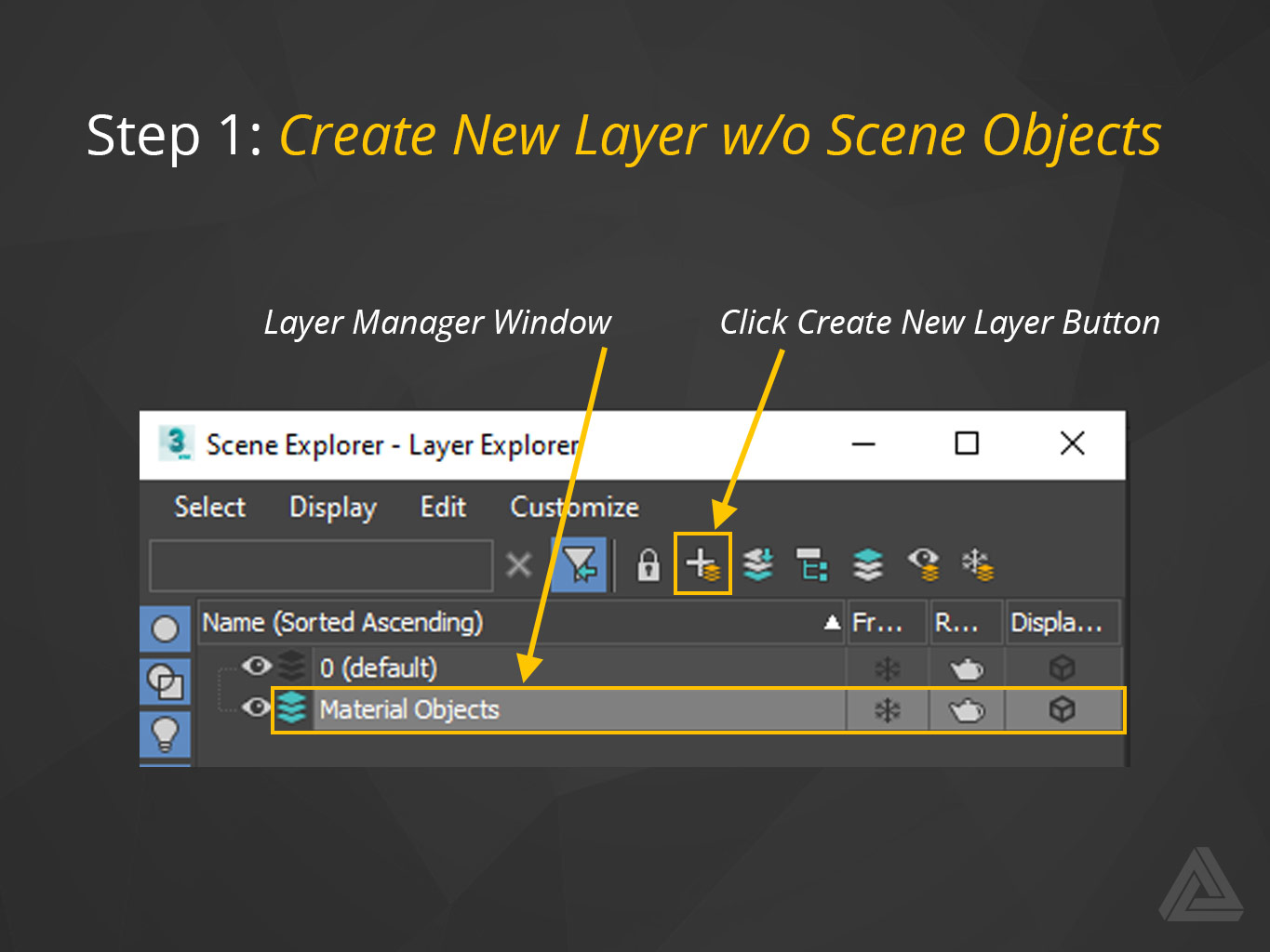 create new layer for materials