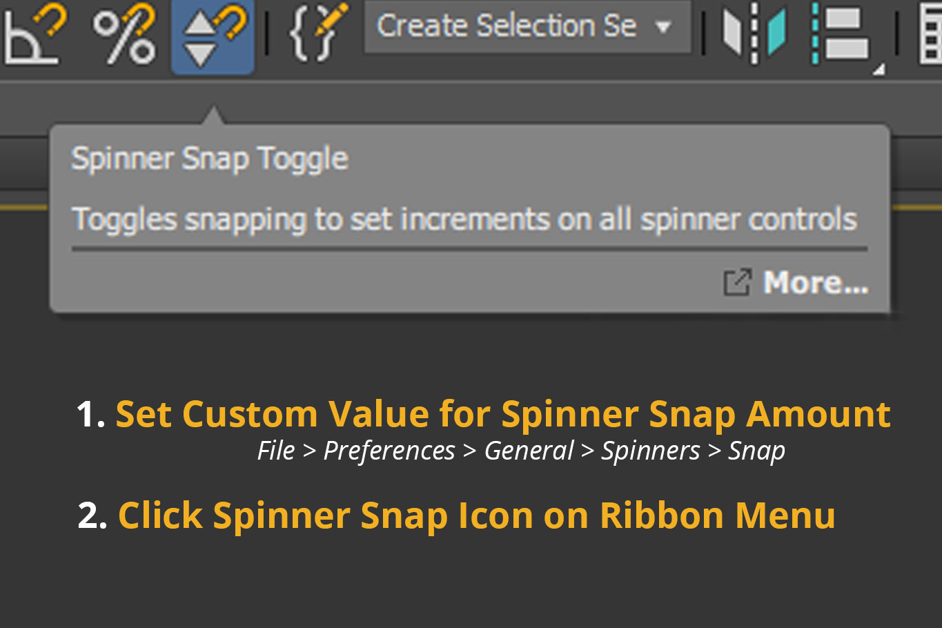 steps to enable spinner snapping