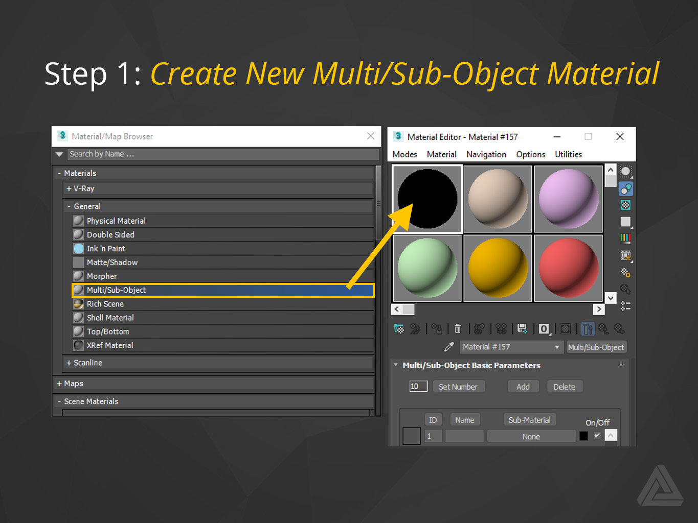 Create New Multi/Sub-Object Material