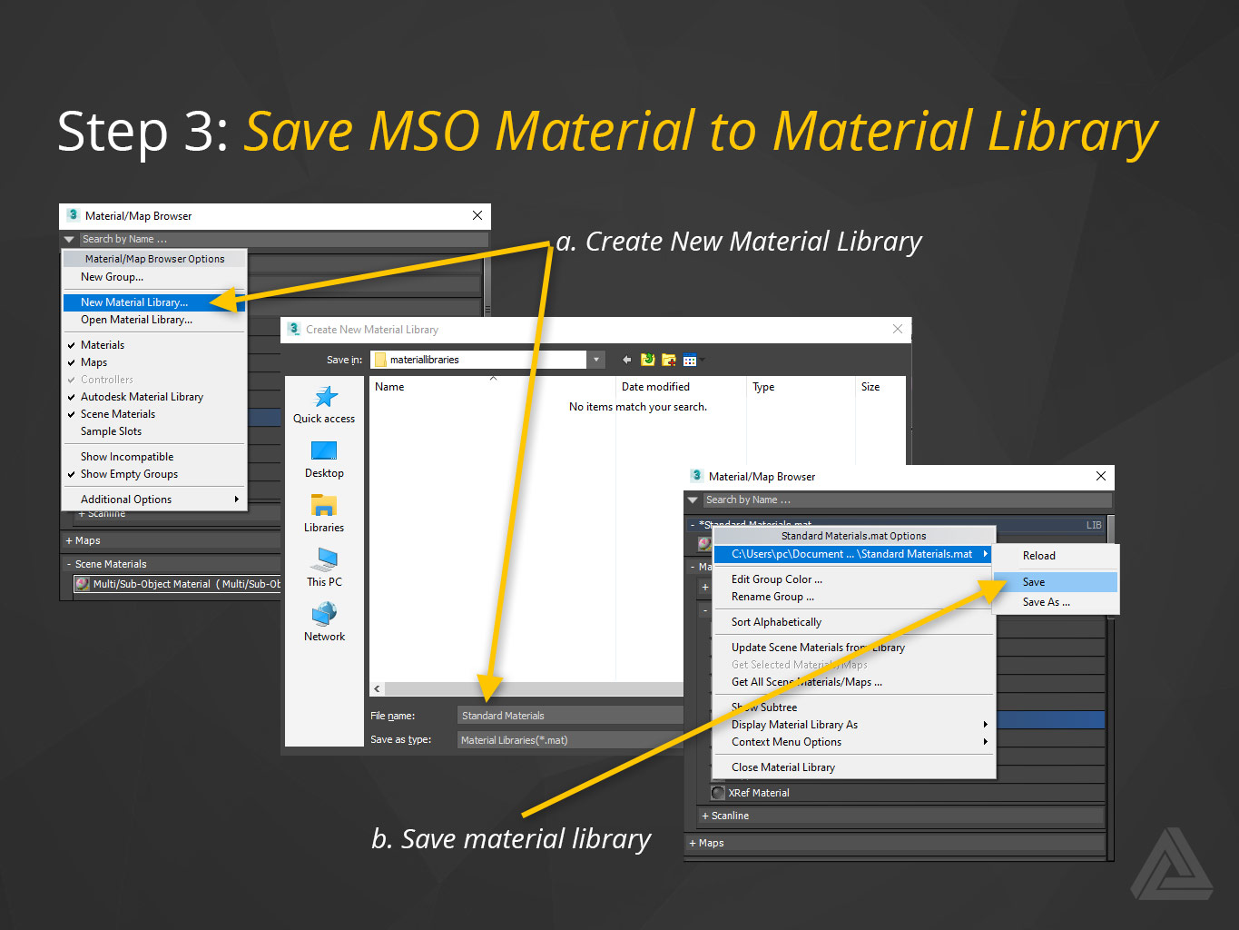 save multi-sub-object-material-to-material-library