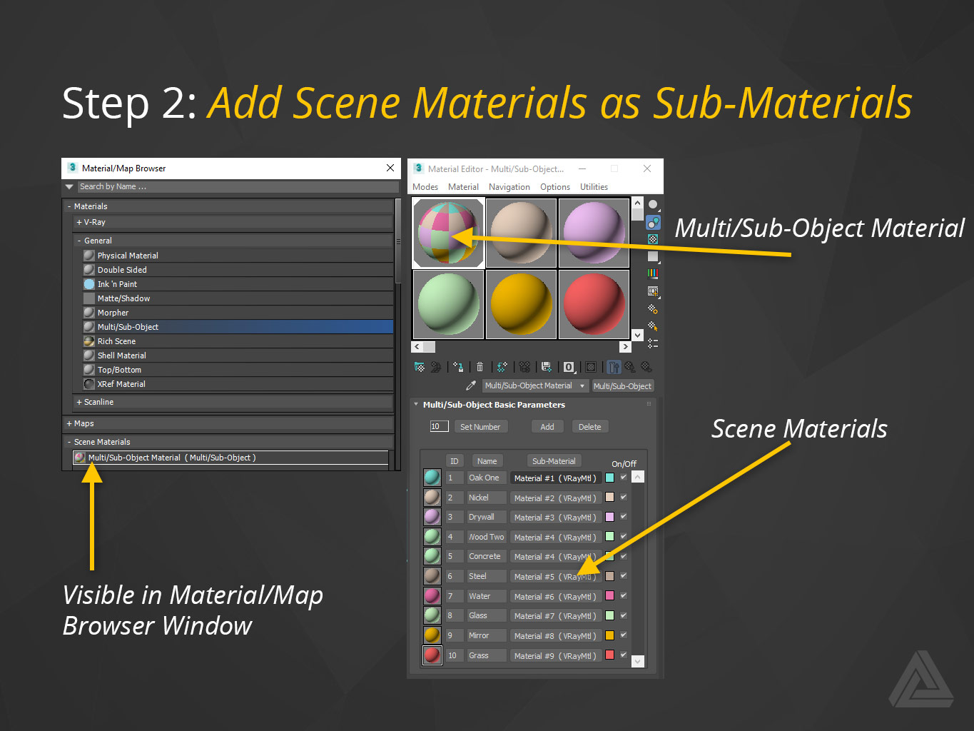 multi/Sub-Object material with sub materials added